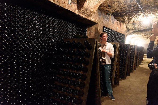 Visit of a Loire Valley wine cellar dug in the limestone