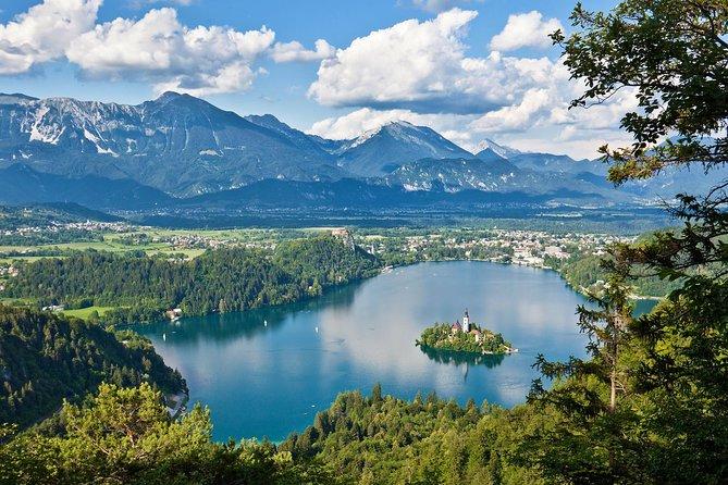 Alpine lakes Bled and Bohinj from Ljubljana