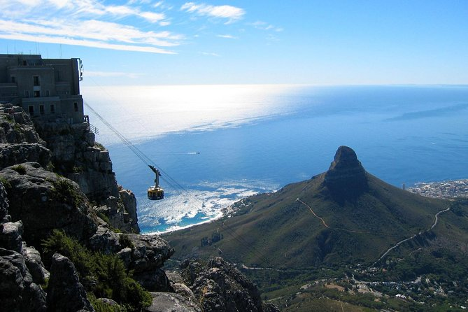 Coming down Table Mountain in the cable car