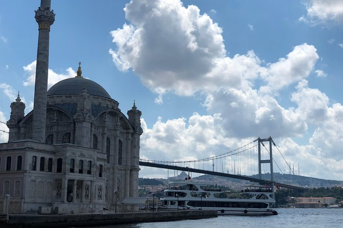 Ortaköy Mosque which is one of the most popular signatures of the Istanbul.