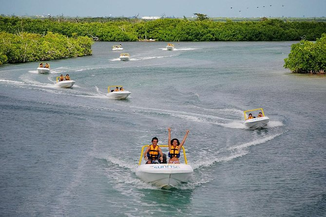 The Best Speedboat Tour In Cancun Throw Nichupte Lagoon, Best Snorkel Activity