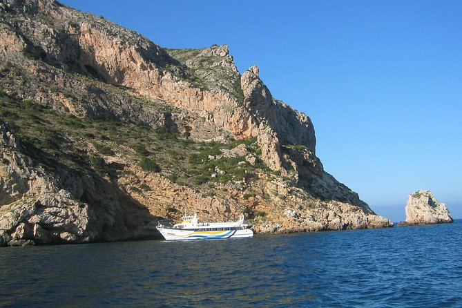 Javea Boat Trip to Granadella Cove with Paella Lunch and Dinner at the Beach