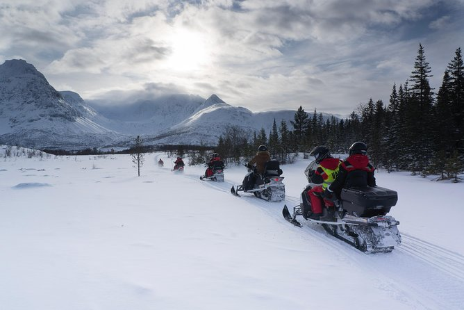 Into the wild with our snowmobiles