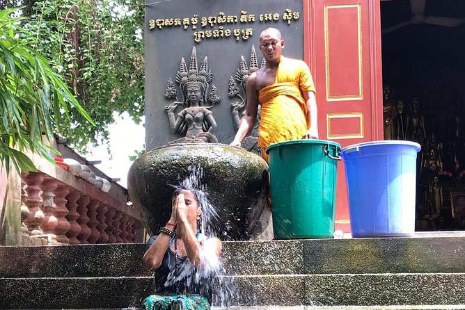 Buddhist Monk Water Blessing