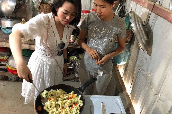 Khmer food at a silk farm in Phnom Penh