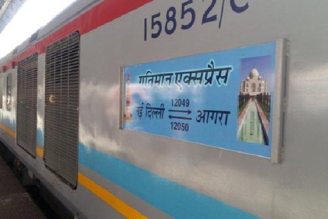 Same Day Round Trip Agra TAJ Tour by GATIMAAN EXPRESS - TRAIN (ALL INCLUSIVE)