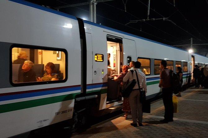 Train in Samarkand station.