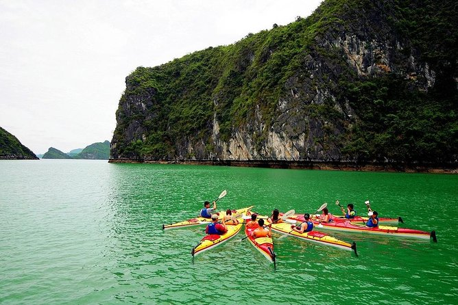 3-Day Cruise on Ha Long Bay with Kayaking, Swimming, Cooking Class,...