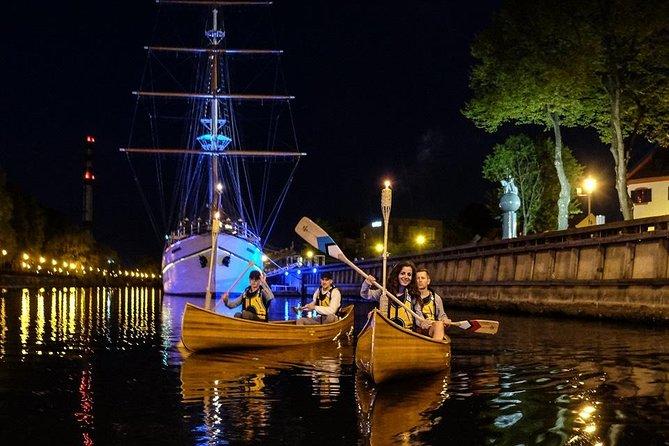 Night Canoe City Tour in Klaipeda