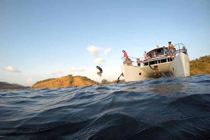 Sunset cruise with luxury catamaran.