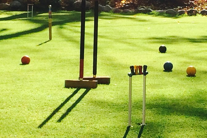 It's like playing pool on a perfectly level manicured lawn