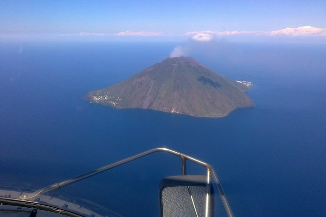 Private Helicopter Flight Over Etna and Aeolian Islands