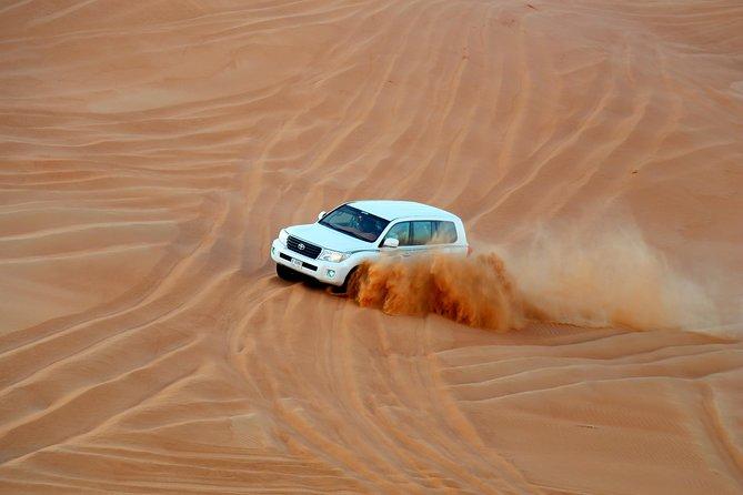 Dubai Desert Tour with Dune Bashing and Camel Ride