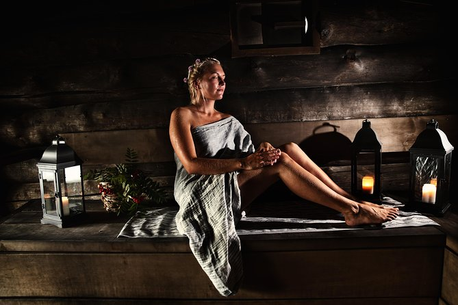 Private traditional Finnish Sauna experience with a nature walk