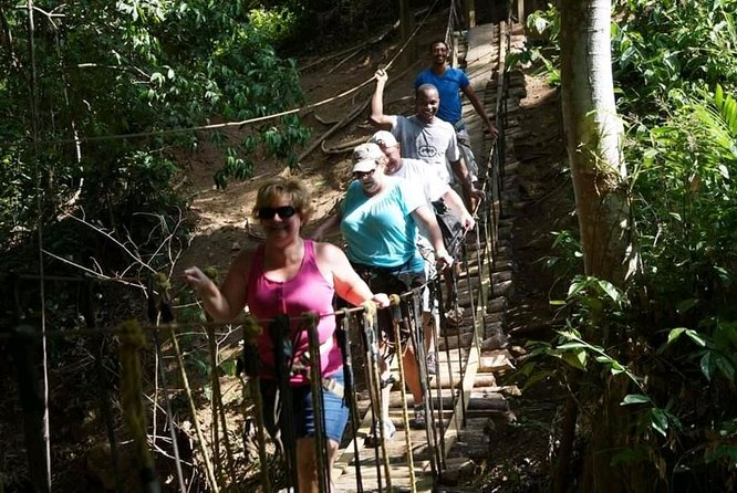 Roatan Zipline hiking suspension bridges and beach break