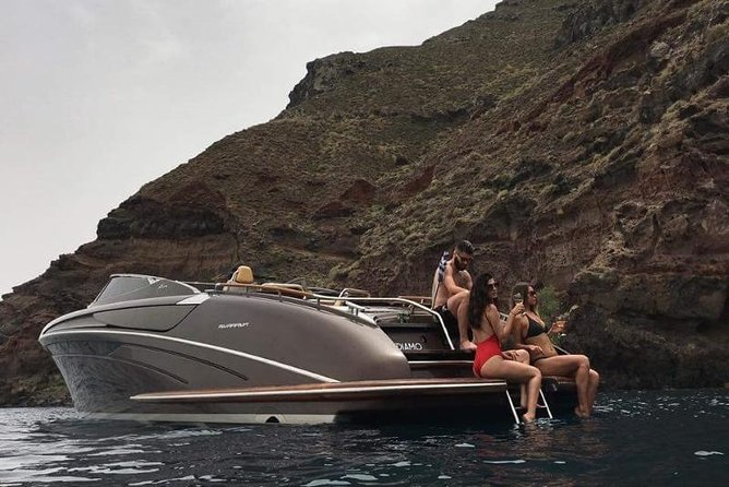 Private Day Cruise from Santorini to Ios island on a luxury Riva Speedboat