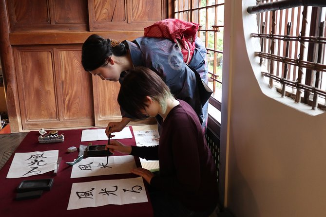 Calligraphy Demonstration and Lesson at a Traditional Japanese House