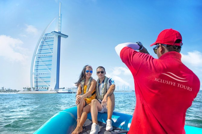 Dubai Palm Jumeirah and Palm Lagoon Guided RIB Boat Cruise