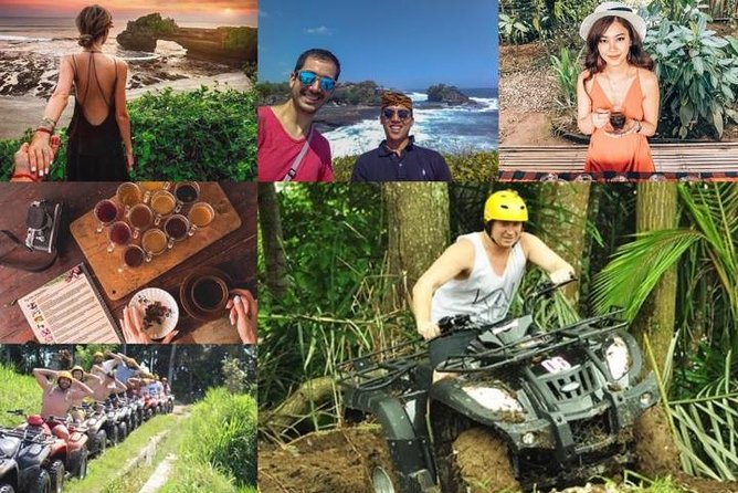 Bali Quad Bike Adventure and Tanah Lot Temple with Private Driver