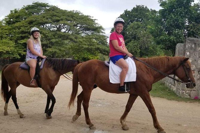 Irie Blue Hole & Horseback Ride n Swim Adventure Tour from Montego Bay