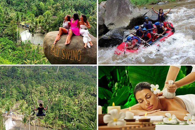 Amazing White Water Rafting - Bali Swing - 2 Hours Spa and Massage Packages