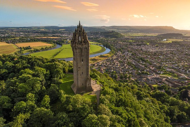 Wallace monument, Stirling Castle,Linlithgow palace, Private Tour from Edinburgh