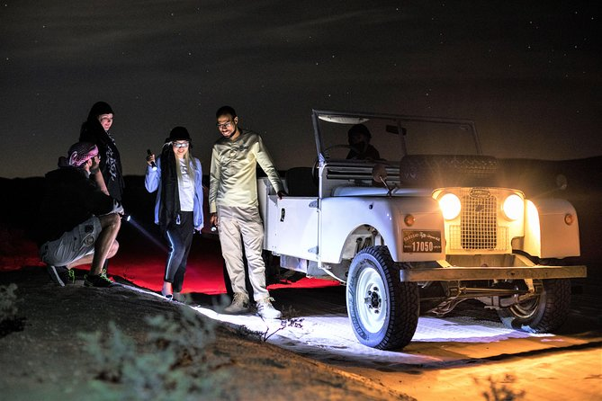 Private Night Vintage Land Rover Desert Safari & Astronomy with Dubai transfers
