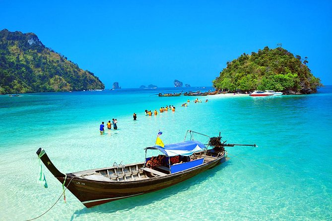 4 Islands Full-day Tour from Krabi with Tub, Chicken, Poda Island & Phra Nang
