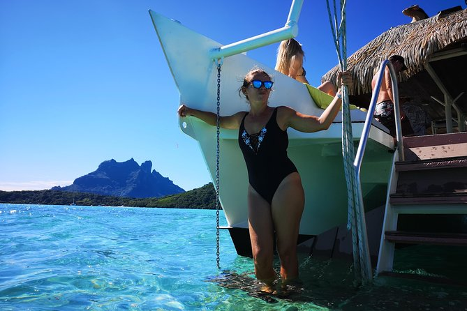Bora Bora Lagoon Cruise Private Full Day Snorkeling on a Polynesian catamaran