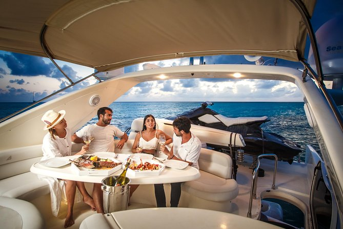 "2-Hour. Private 58"" Azimut Yacht. Up to 20 people. Sunset Dinner Experience."