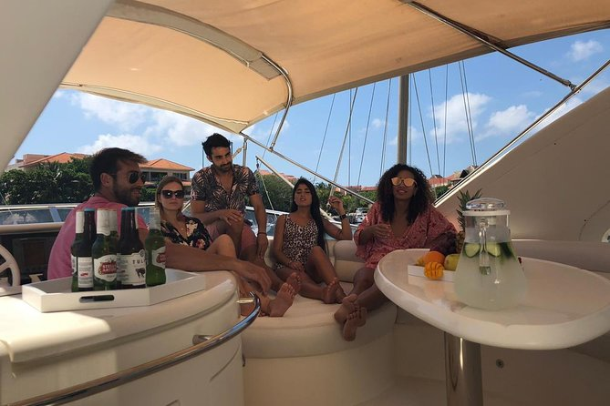 """2-Hour. Private 58"""" Azimut Yacht. Up to 12 people. Sunset Dinner Experience."""
