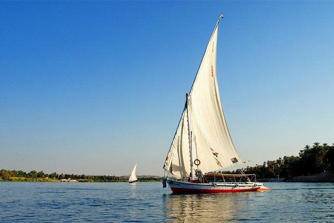Enjoy Banana island & camel island by traditional Egyptian Felucca