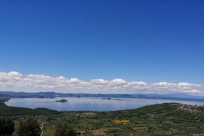 """Bolsena Lake and """"Rocca dei Papi"""" at Montefiascone from Civitavecchia"""