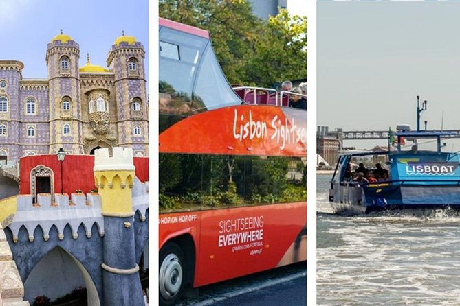 From Lisbon:Sintra and Cascais With Lunch & Hop-off Hop-On BUS and BOAT