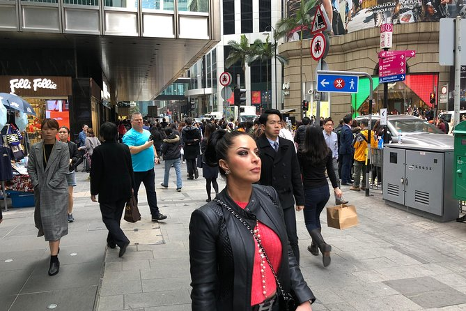 Being led by a professional guide exploring Hong Kong streets
