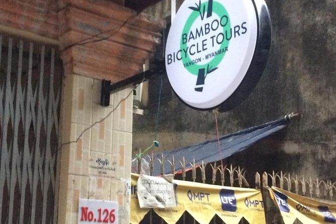 Excursão da descoberta de Yangon Dala em bicicletas de bambu
