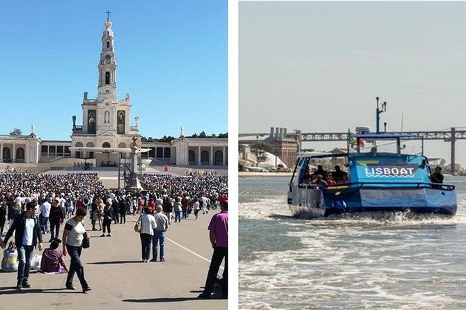 From Lisbon:Fátima, Batalha, Alcobaça and Óbidos with Lunch &Hop-off Hop-On Boat