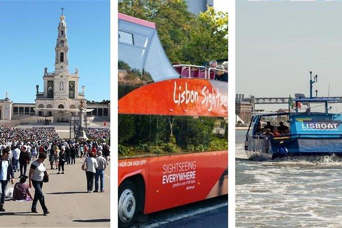 Fátima, Batalha, Alcobaça, Óbidos with Lunch & Hop-off Hop-On BUS and BOAT
