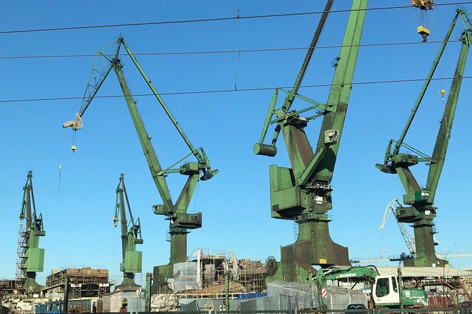 Gdańsk Shipyard Tour (incl. stunning view from 30 m. high Crane)