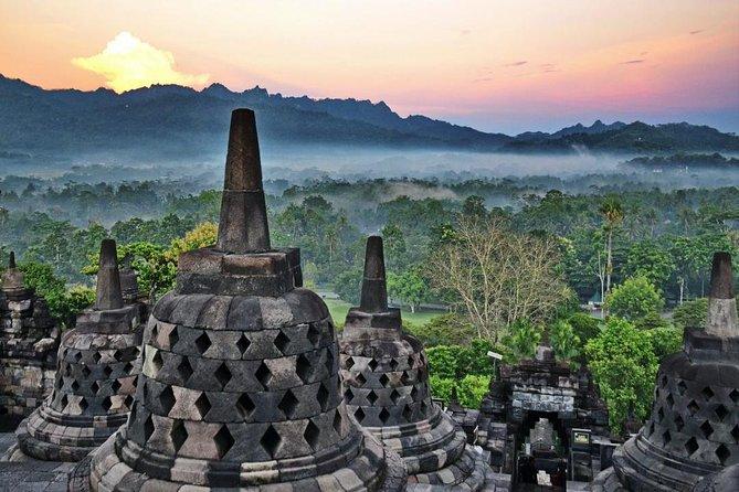 The amazing Borobudur sunrise and Prambanan temple