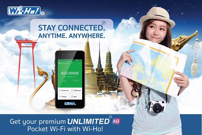 Pocket Wi-Fi Thailand - Premium 4G wifi unlimited internet