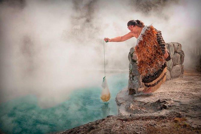 From Tauranga. Private Day Tour. 'Whaka Living Maori Village' Rotorua.