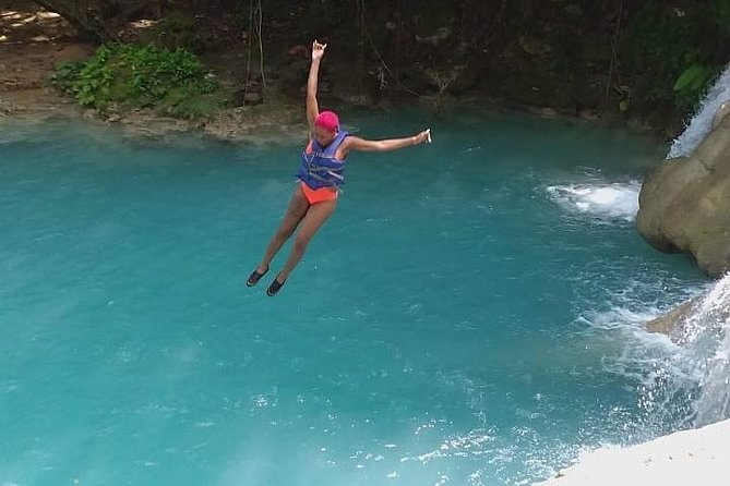 Blue Hole and Secret Falls with Luminous Lagoon(Glistening Waters) Private Tour