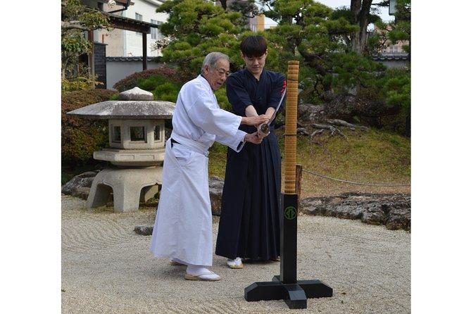 Samurai experience at a Japanese garden restaurant and Japanese cuisine