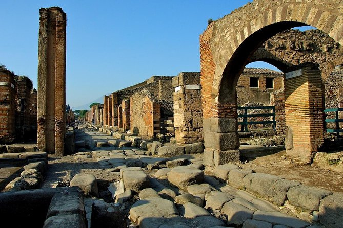 Arrive in Naples by cruise and visit Pompeii and Archeological Museum