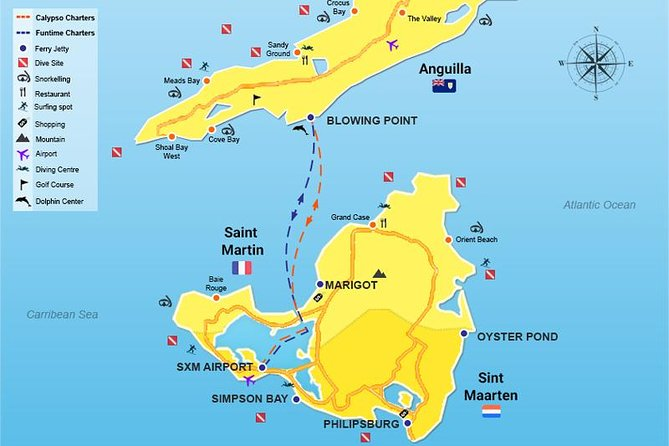 3 countries. 2 islands. 1 Day. (St Maarten,St Martin,Anguilla)