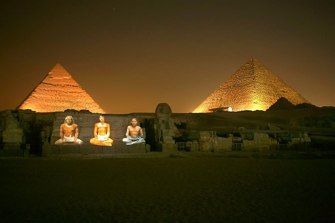 Pyramids Sound and Light Show with Private Transport