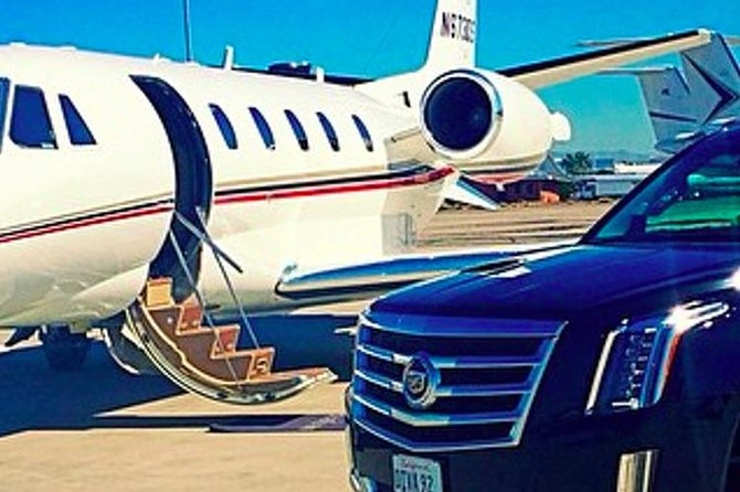PRIVATE JET DRIVER ON LOCATION