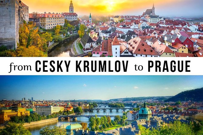Transfer from Cesky Krumlov to Prague: Private sightseeing daytrip with 2 stops