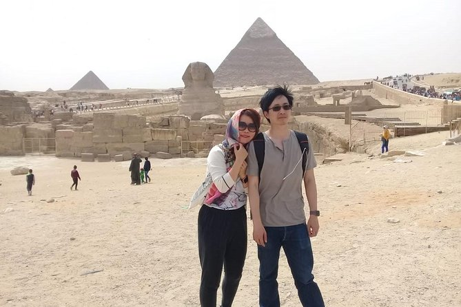 Giza pyramids with expert driver only